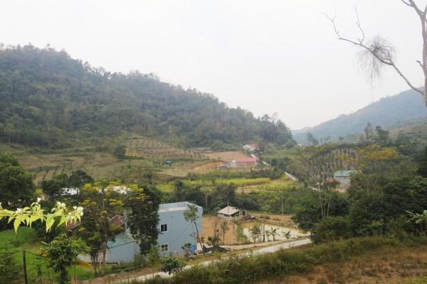 Xóm Nà Thúng, xã Cô Ngân (Hạ Lang) giáp biên giới. ảnh (BCB)